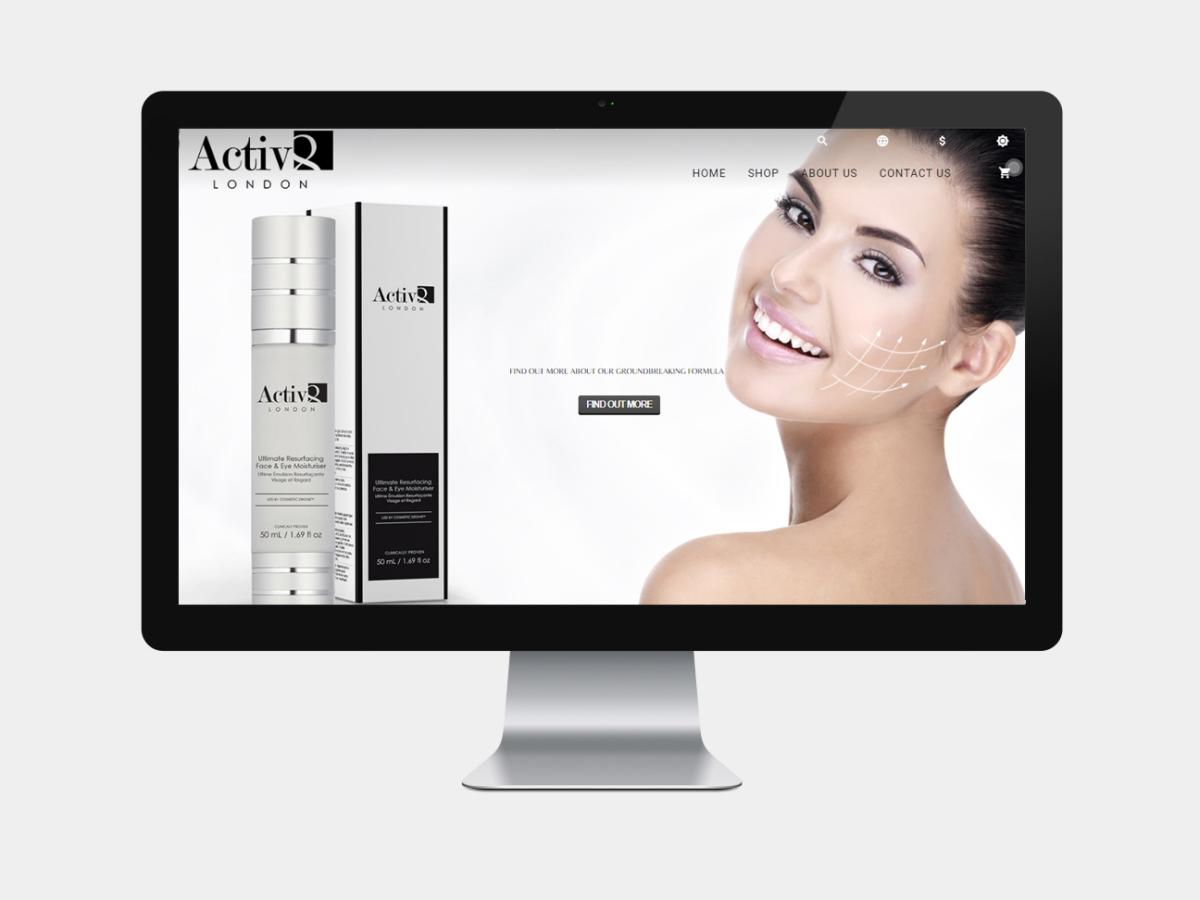 activ8 cosmetics ecommerce design pristine media uk