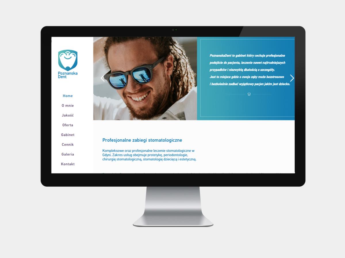 poznanskadent.pl dentist web design pristine media uk